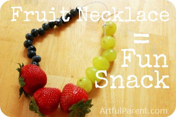 Fruit Necklace Fun Snack