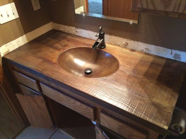 wood grain concrete countertop dream hizzouse concrete rh pinterest com