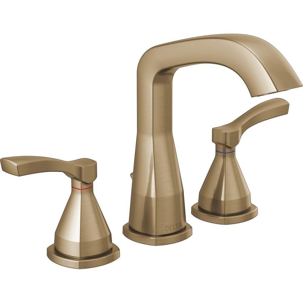 Delta Stryke 8 In Widespread 2 Handle Bathroom Faucet In