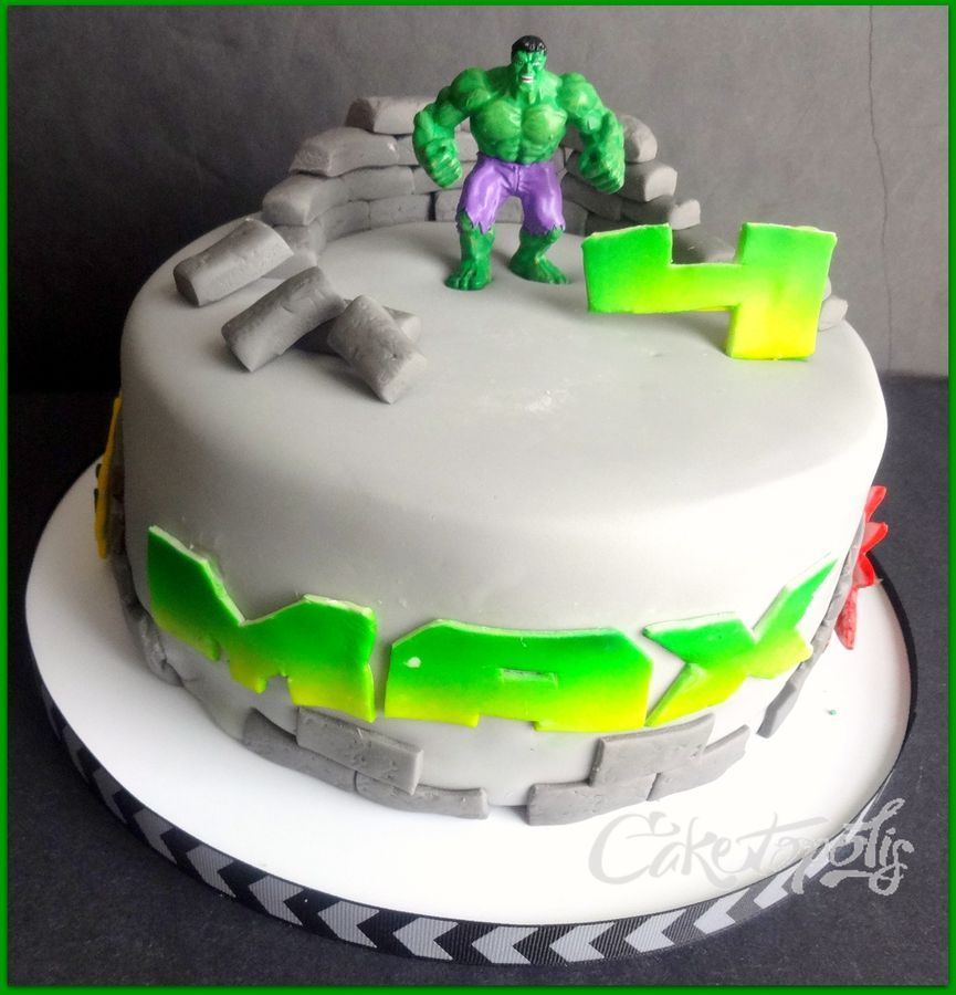 Hulk Birthday Cake wwwfacebookcomcaketopolis My Cake Creations