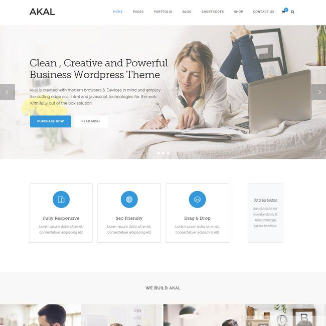 Akal Multipurpose WordPress Theme | Best WordPress Themes 2014 ...