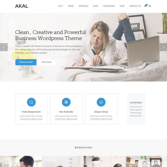 Akal Multipurpose WordPress Theme | Best WordPress Themes 2014 ...