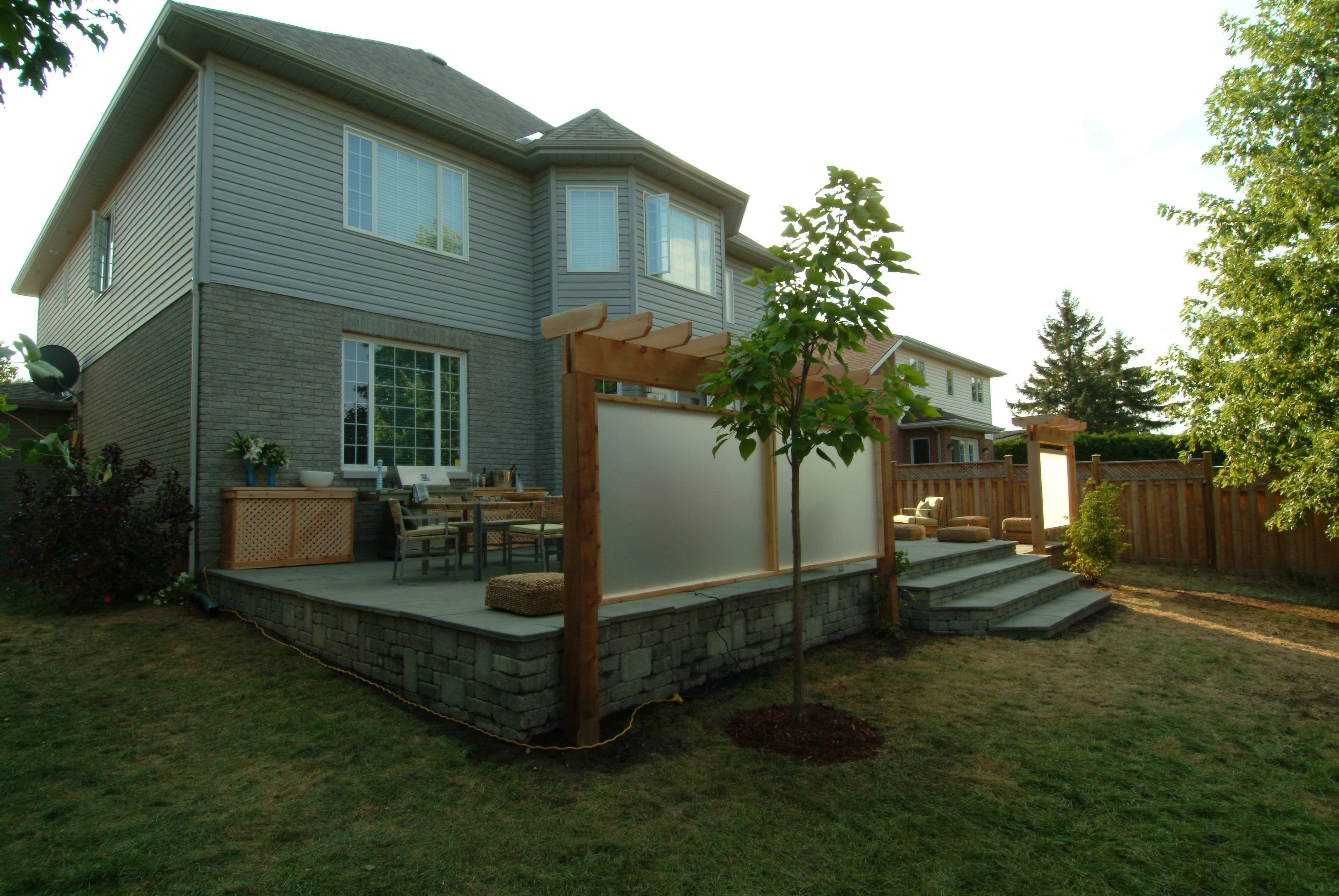 backyard raised patio ideas. Raised Patio With Retaining Wall Backyard Ideas O
