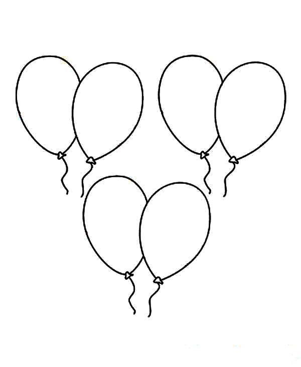 luftballons 11 ausmalbilder für kinder malvorlagen zum