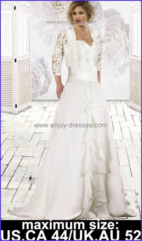 chiffon lace beads plus size wedding dresses-maximum size:Canada,US ...