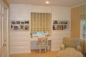 Built In Bookshelves With Dresser And Desk For Little Girl S Room Kids Room Desk Built In Desk Built In Dresser