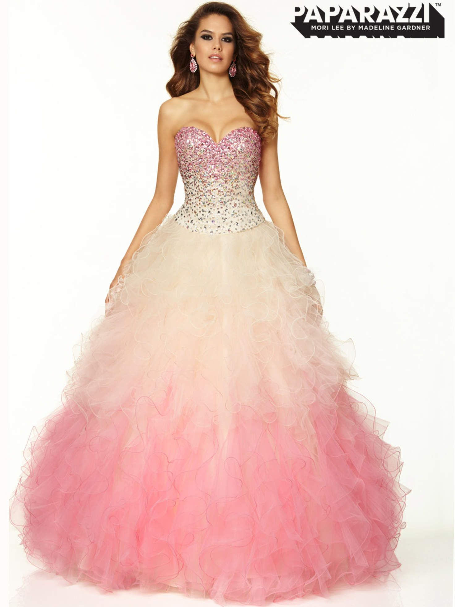 Sweetheart Beaded Tulle Ball Gown Paparazzi Prom Dress By Mori Lee ...