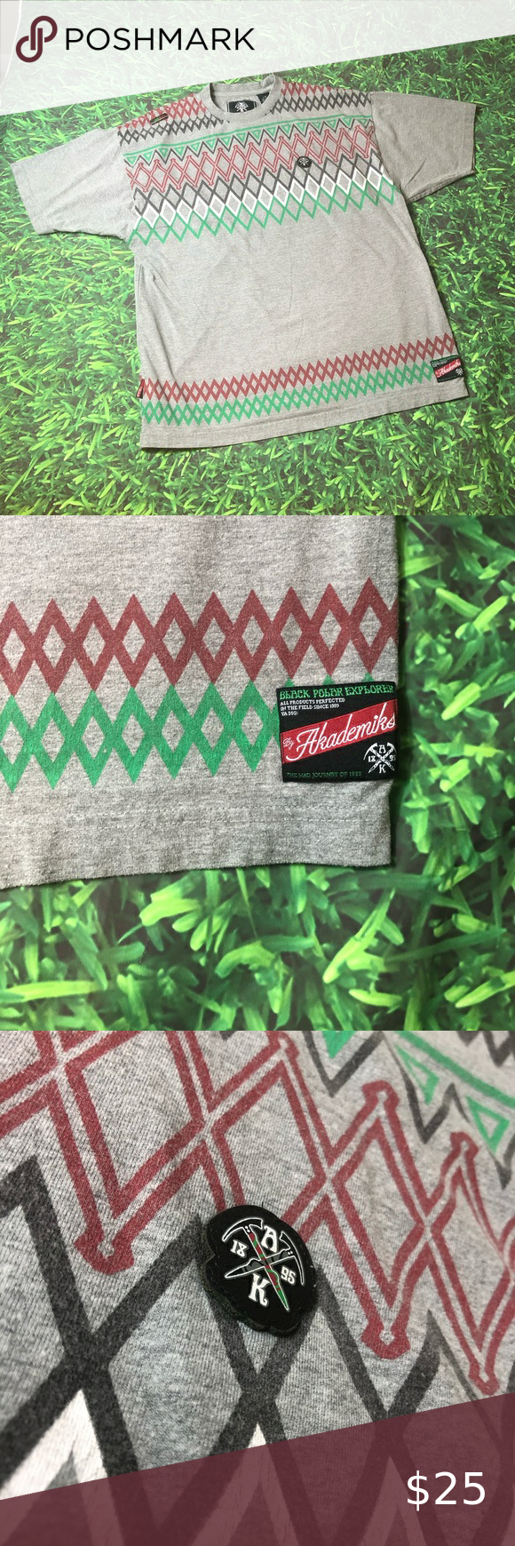 Vintage Akademiks Polar Explorer T-Shirt Green Red This item is preowned and may show signs of wear that being said this item is in great condition for its age minor screen print cracking and minor cracking on tag on shoulder shown in pictures very rare tee Akademiks Shirts Tees - Short Sleeve