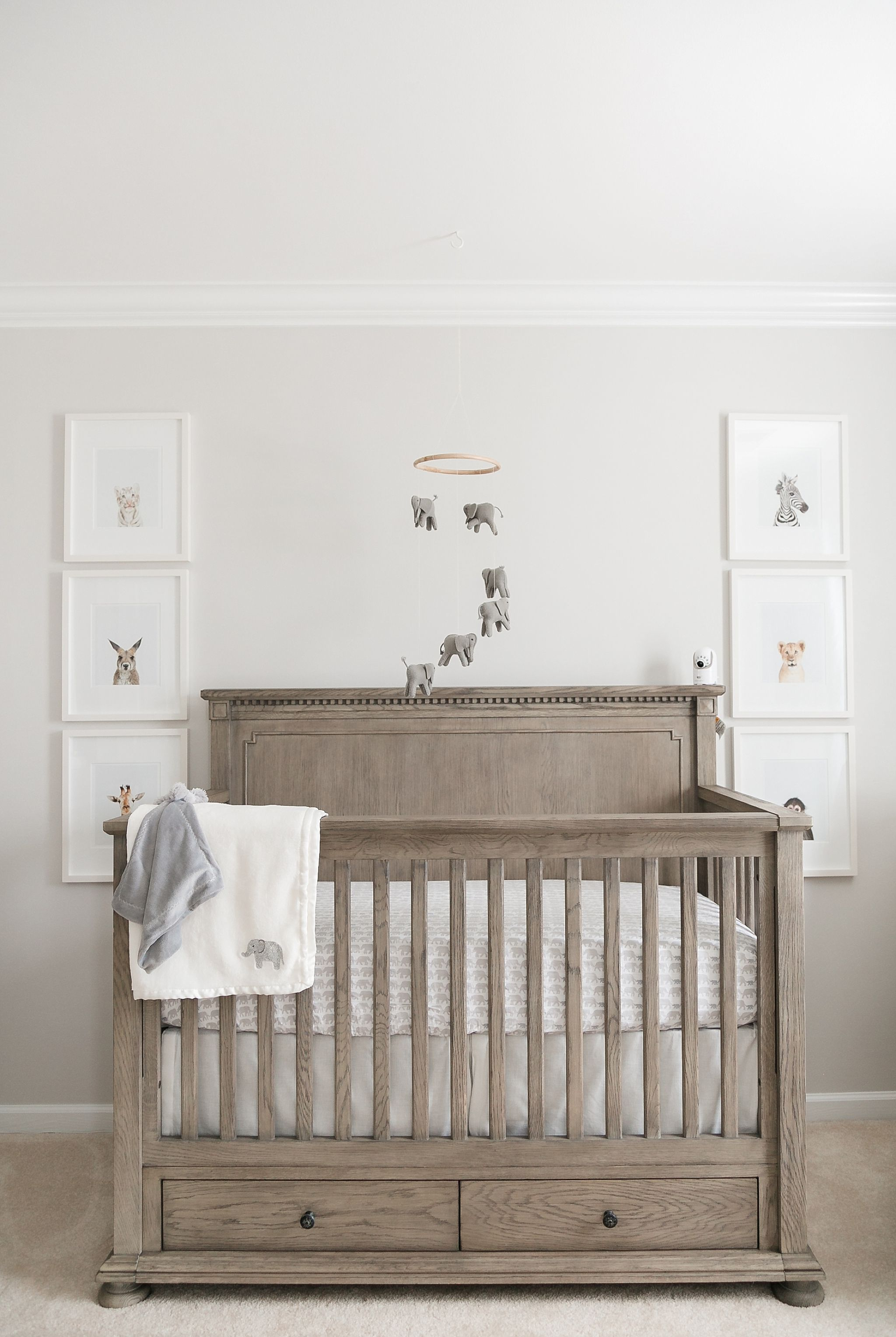 Our Baby Boy's Grey Elephant Nursery #restorationhardware
