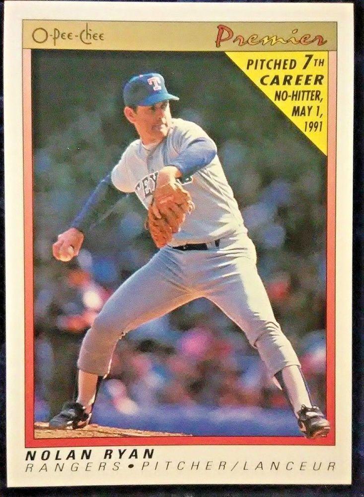 1991 OPeeChee Premier Nolan Ryan 102 Texas Rangers