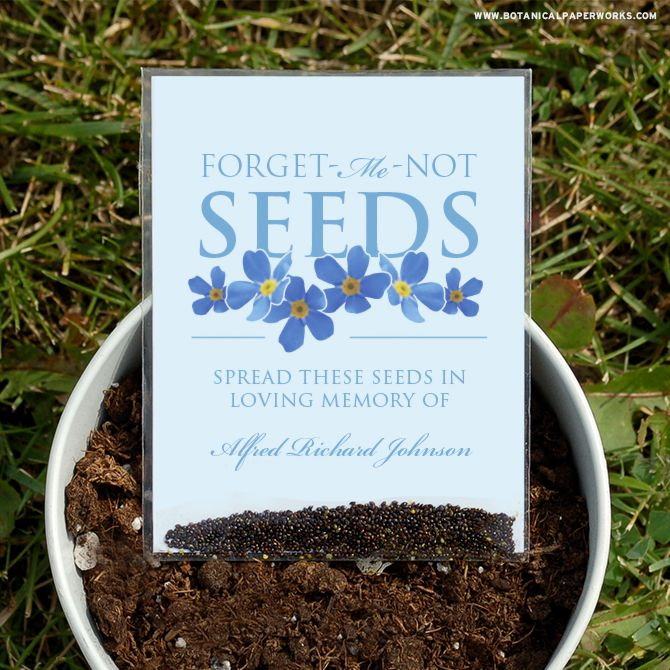 These Seed Packet Memorial Favors are perfect to offer friends and family at a…