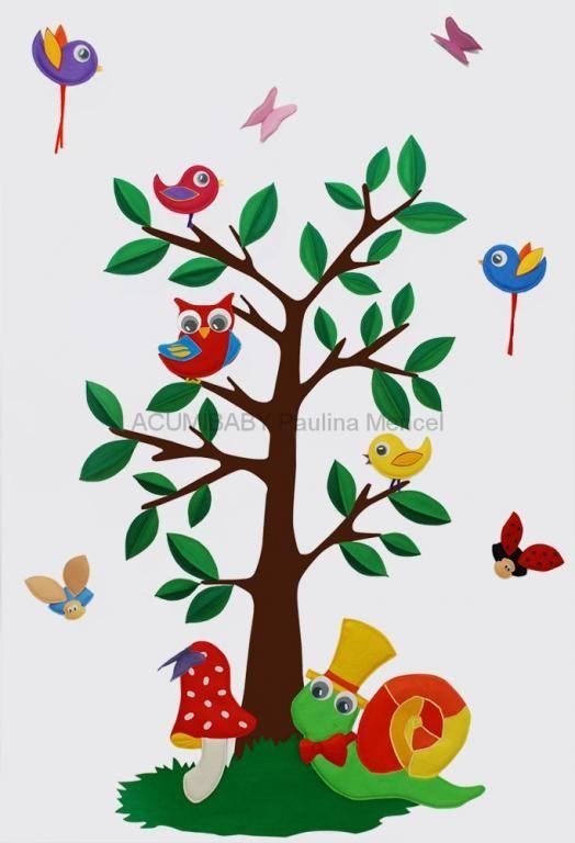 Acumi Dreamtree Do Pokoju Dziecka Naklejki 3120410087 Oficjalne Archiwum Allegro Etsy Wall Stickers Felt