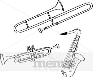 Brass Instruments Clipart Brass Instruments Marching Band Trombone