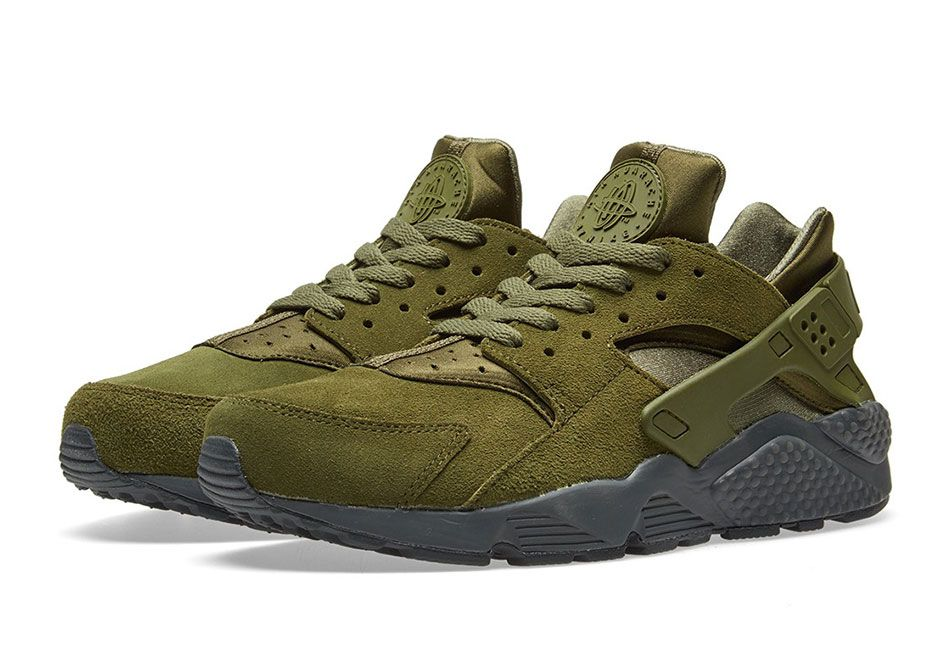 c42a0848640d Nike Air Huarache Legion Green Suede 852628-301
