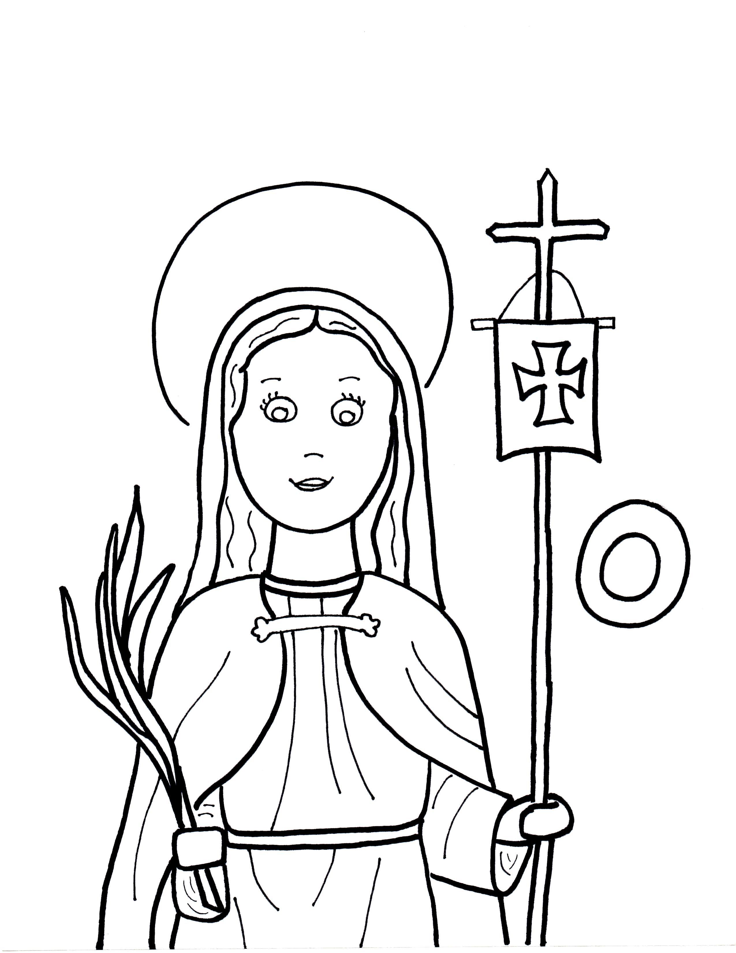Week 15 4 20 16 Saint Odilia Coloring Sheet