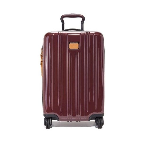 Tumi International Carry On Suitcase (1.625 BRL) ❤ liked on Polyvore featuring bags, luggage and merlot