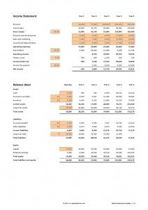 financial projections example