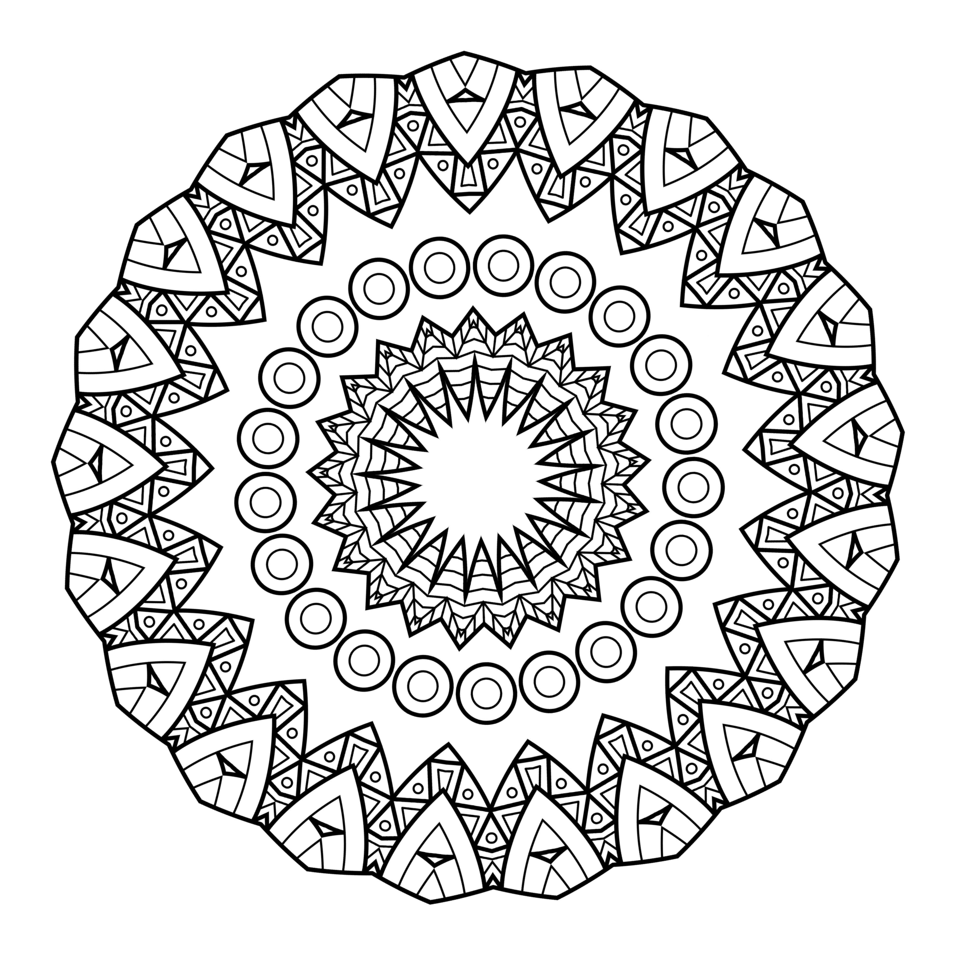 This is an image of Priceless Free Printable Mandalas