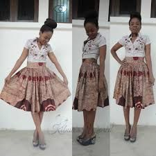 Image result for african print high low skirts