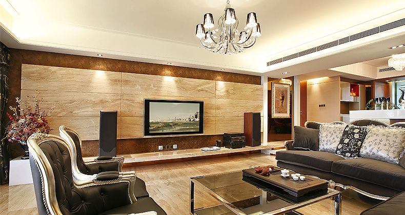 Wood Paneling Entertainment Wall Lounge | Interior Design