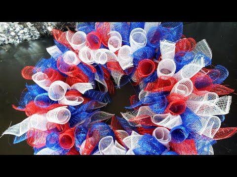DIY: Patriotic Deco Mesh Wreath || Dollar Tree Under $10 || 4th of July