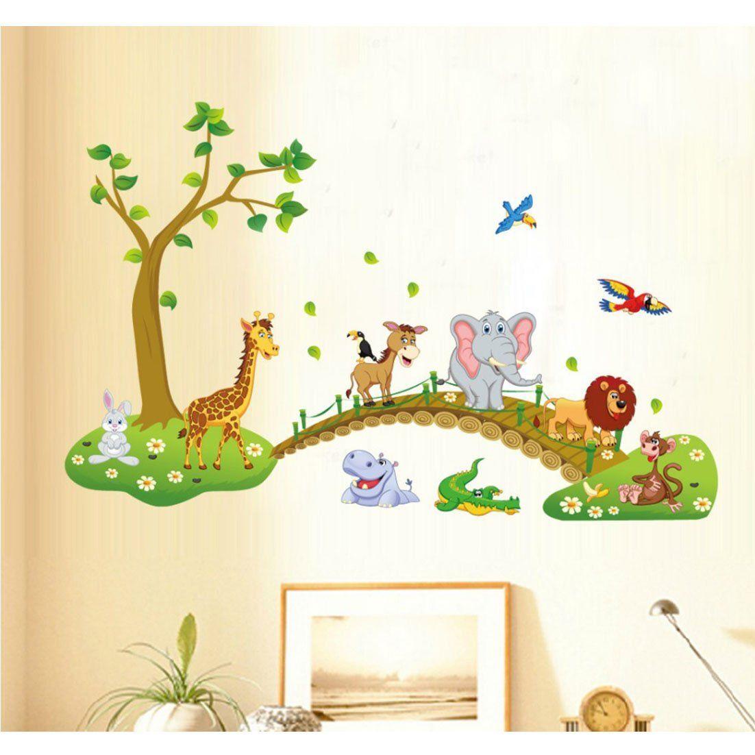 Dschungelzimmer | Jungle Room | Baby Zimmer Wand Aufkleber | Wild ...