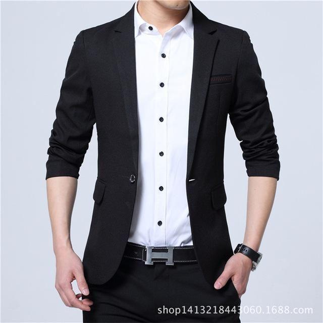 mens jacket Blazer SLIM-FIT 2 Button Suit Sport Coat Modern vintage casual
