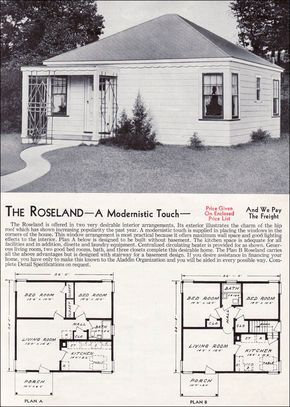 1940 Style Homes 1940 Aladdin Kit Homes The Roseland Vintage House Plans House Plans Kit Homes