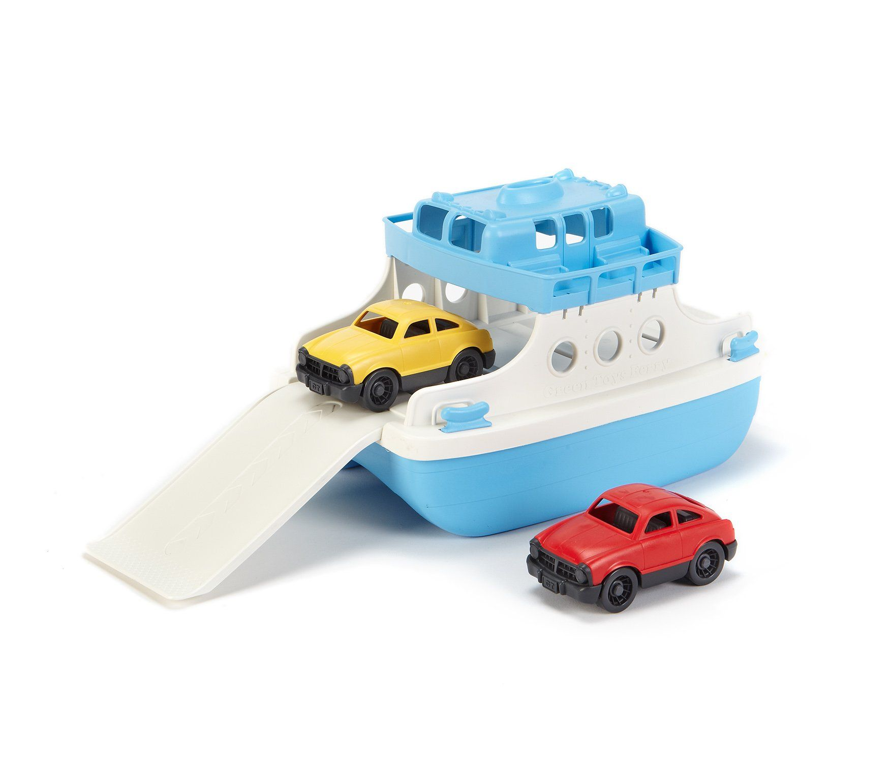 Amazon.com: Green Toys Ferry Boat with Mini Cars Bathtub Toy, Blue ...