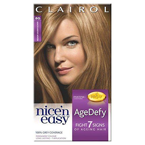 Nice N Easy Age Defy Hair Dye Medium Gold Blonde 8 Pack Of 6
