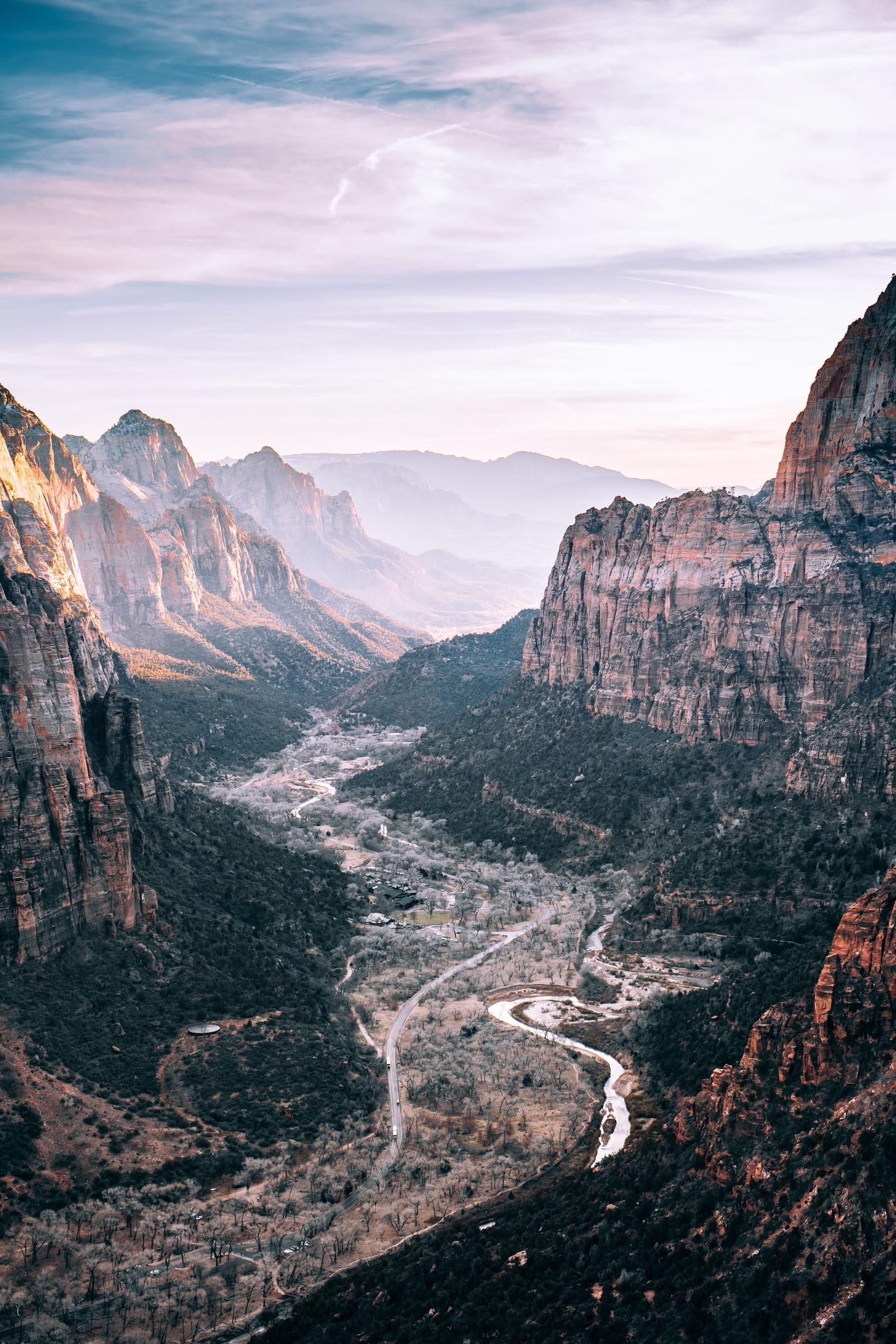 Itap Of The View From Angels Landing Zion National Park Angels