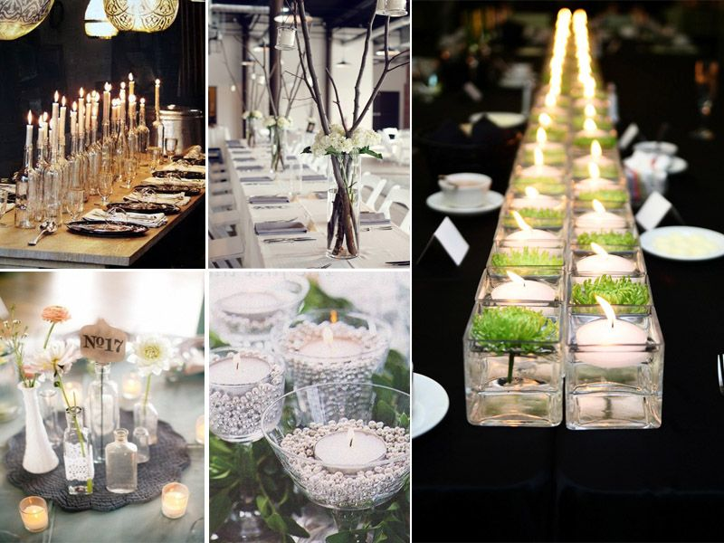 Creative wedding centerpieces yes baby daily special for Yes decoration