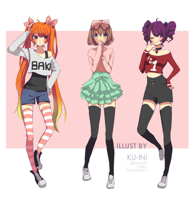 Rival Outfits 1 By Ku Ini Yandere Simulator Anime Outfits Yandere