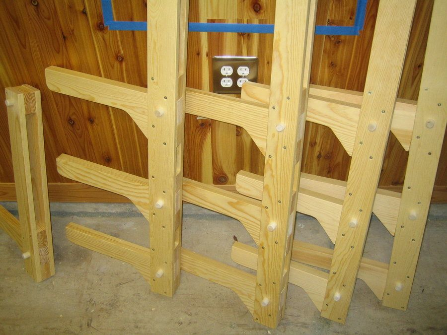 How To Build A Wall Mounted Lumber Storage Rack One We
