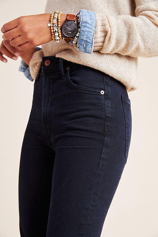 Citizens of Humanity Chrissy Ultra High-Rise Skinny Jeans by in Blue Size: 32, Women's Denim at Anthropologie #skinnyjeansandankleboots