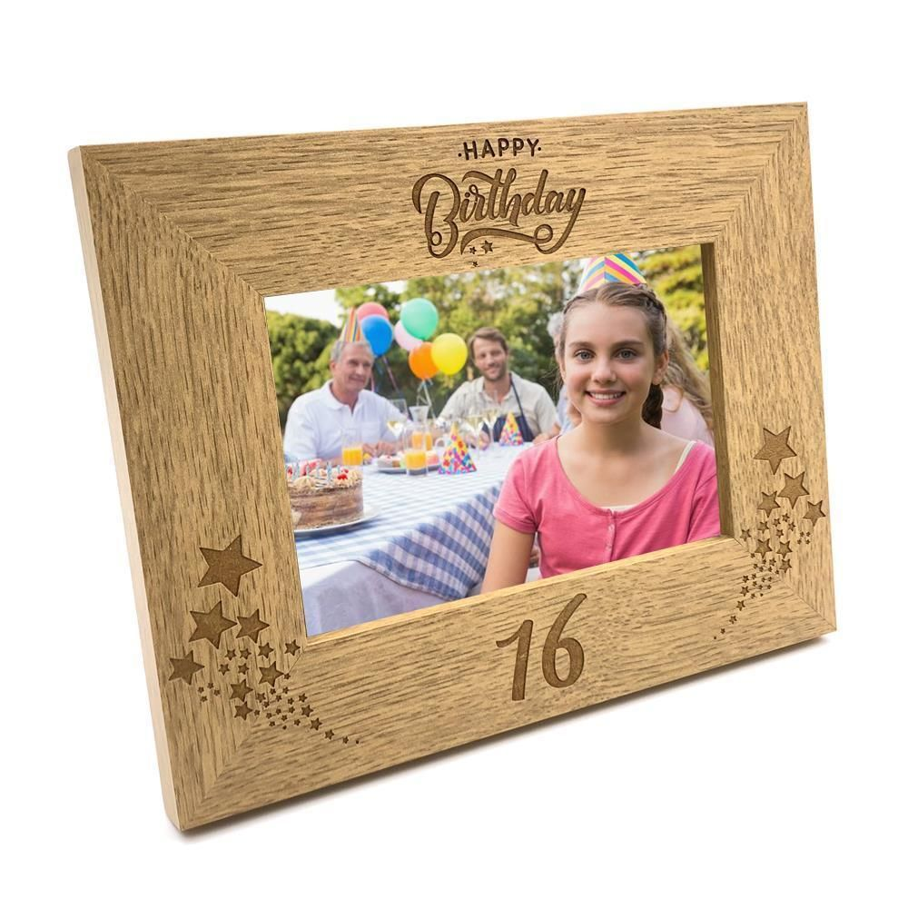 Details about Happy 16th Birthday Wooden Photo Frame Gift