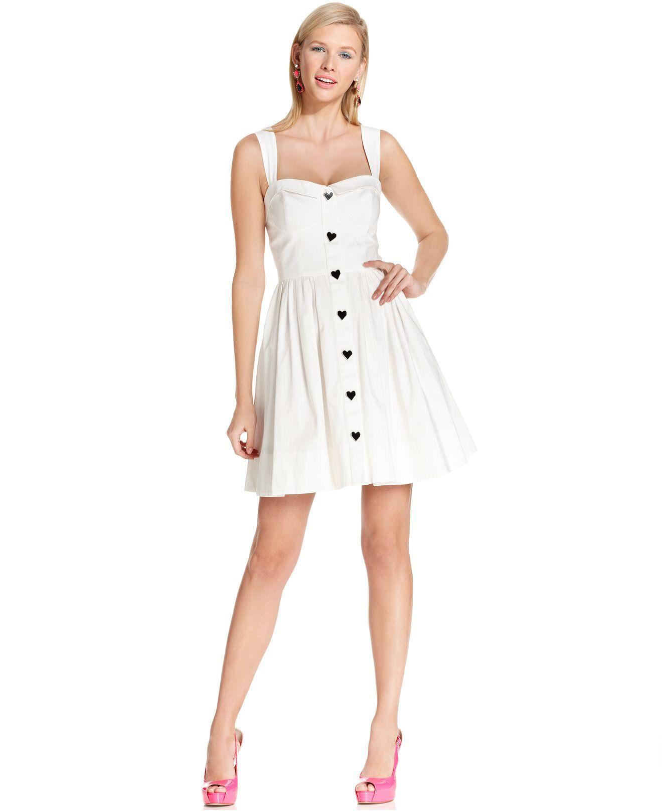 Betsey johnson wedding dresses  Betsey Johnson Dress Sleeveless HeartButton ALine  Dresses