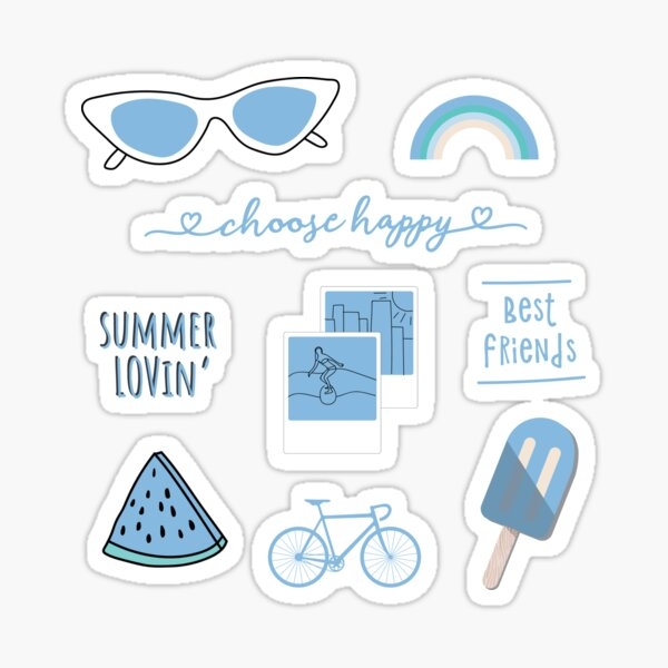Blue Stickers in 2020 | Fun stickers, Stickers packs ...
