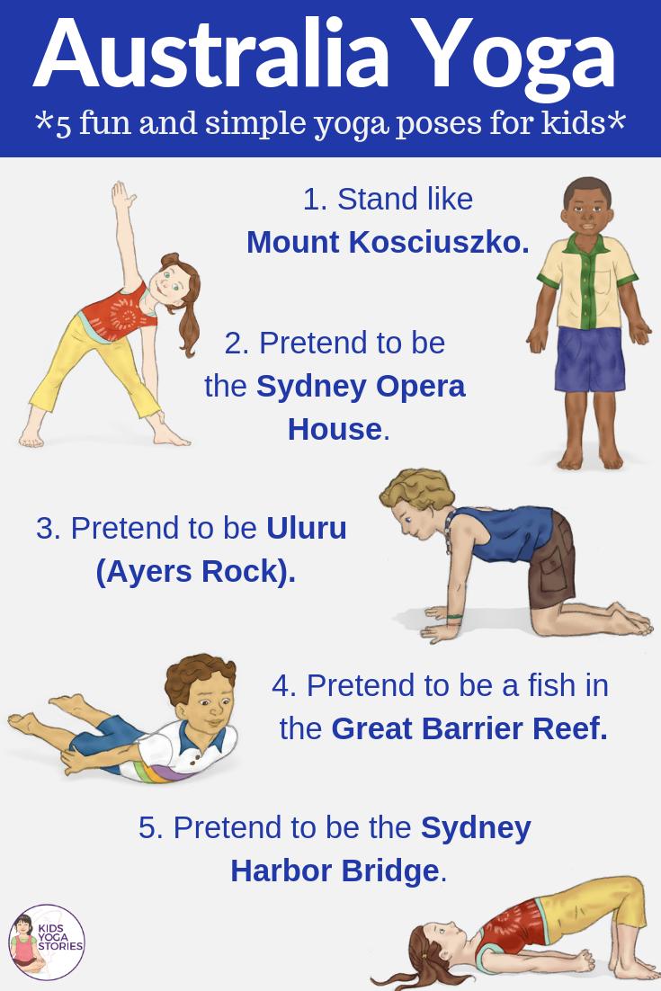 Australia for Kids: Learn about Australia through Yoga Poses for