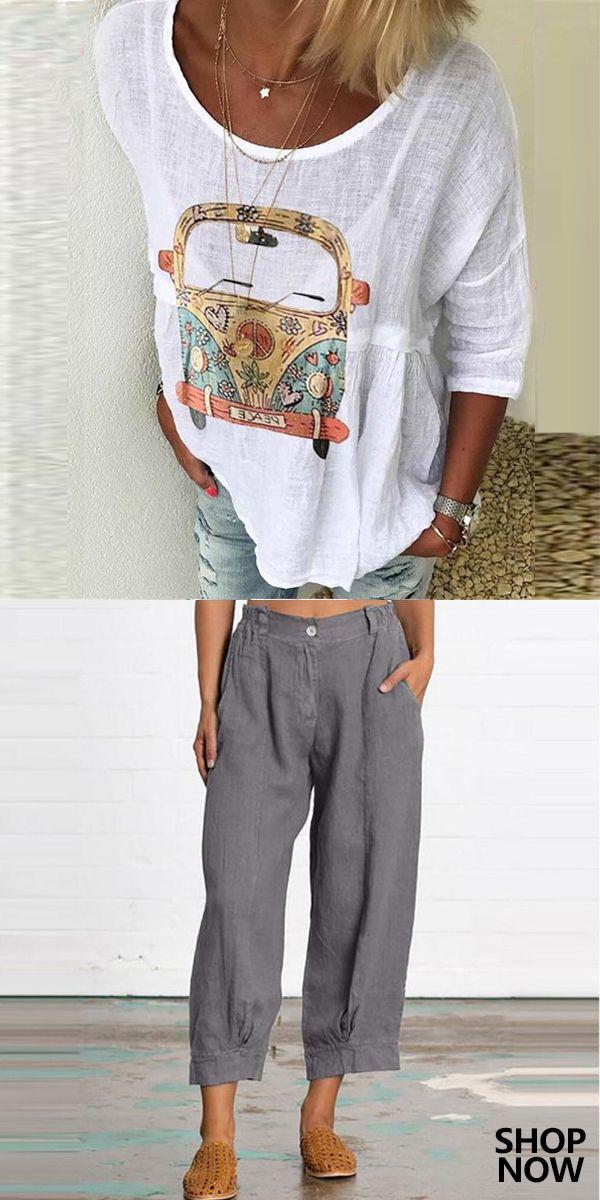 Women's Casual Pants & T-shirts