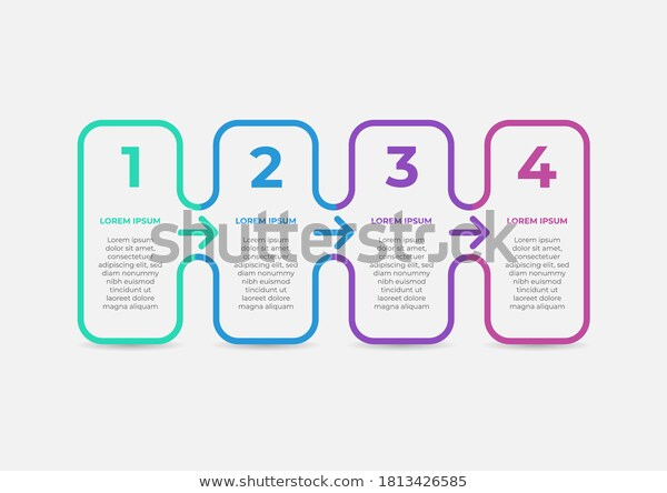 Modern Business Infographic Thin Line Arrow Stock Vector Royalty Free 1813426585 Business Infographic Infographic Thin Line