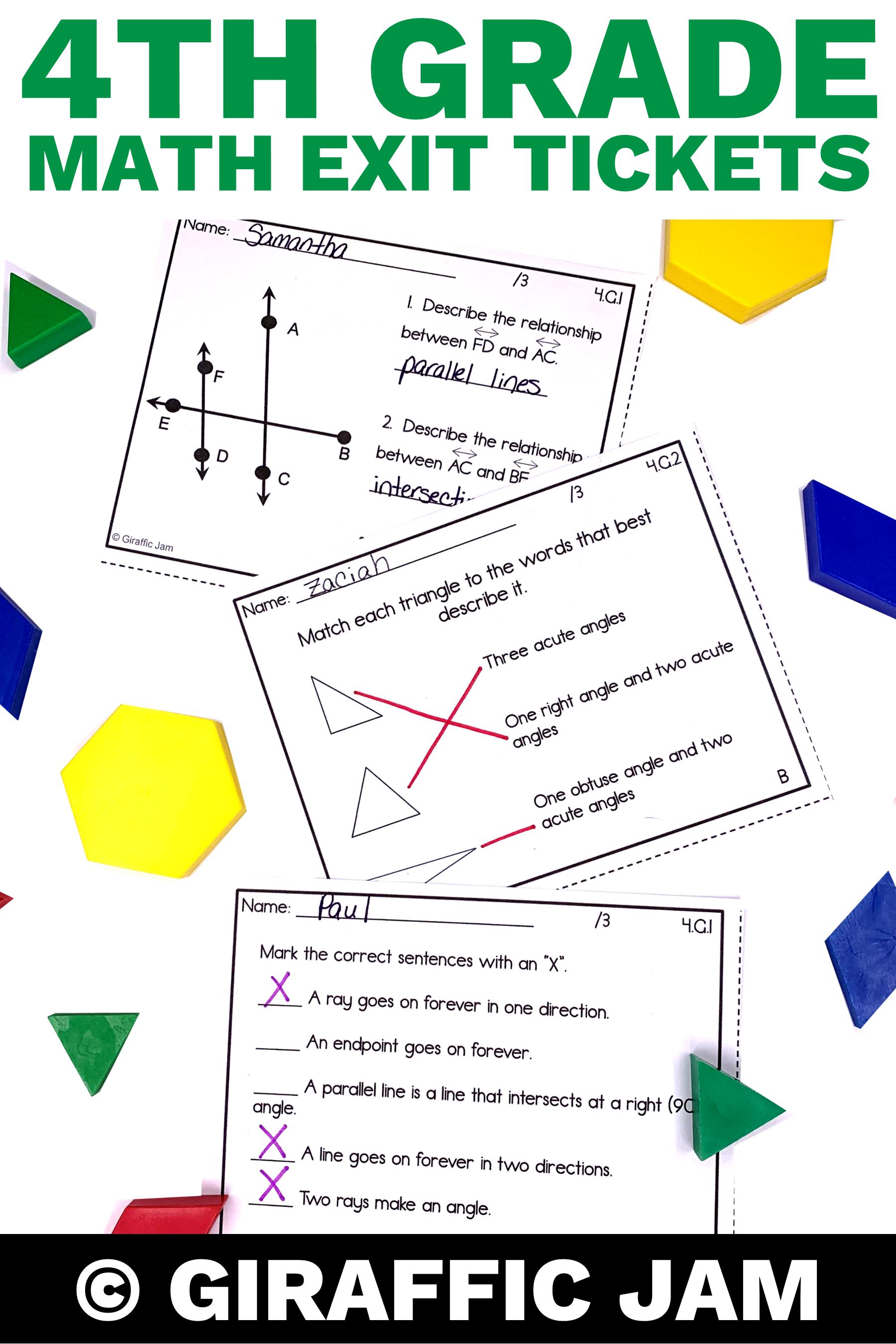 4th Grade Math Exit Tickets Geometry Exit Tickets Fourth Grade Math Common Core Math Standard Math Exit Tickets Common Core Math Standards 4th Grade Math [ 2700 x 1800 Pixel ]