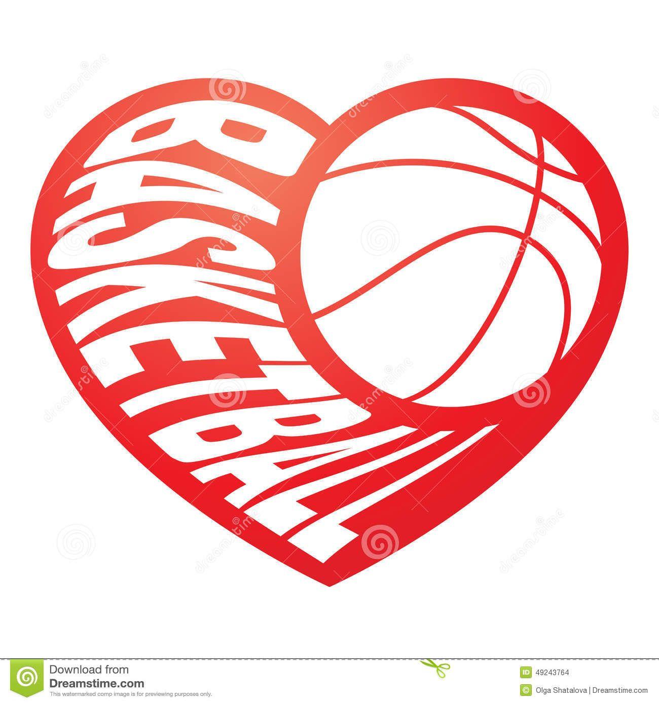 Basketball Heart Stock Photography Image 17904432