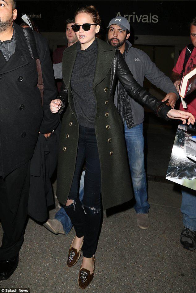 Jennifer Lawerence Airport Style