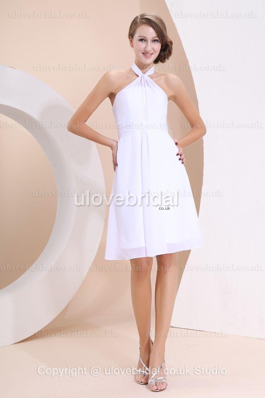 Simple lovely halter chiffon bridesmaid dress bridesmaid dress