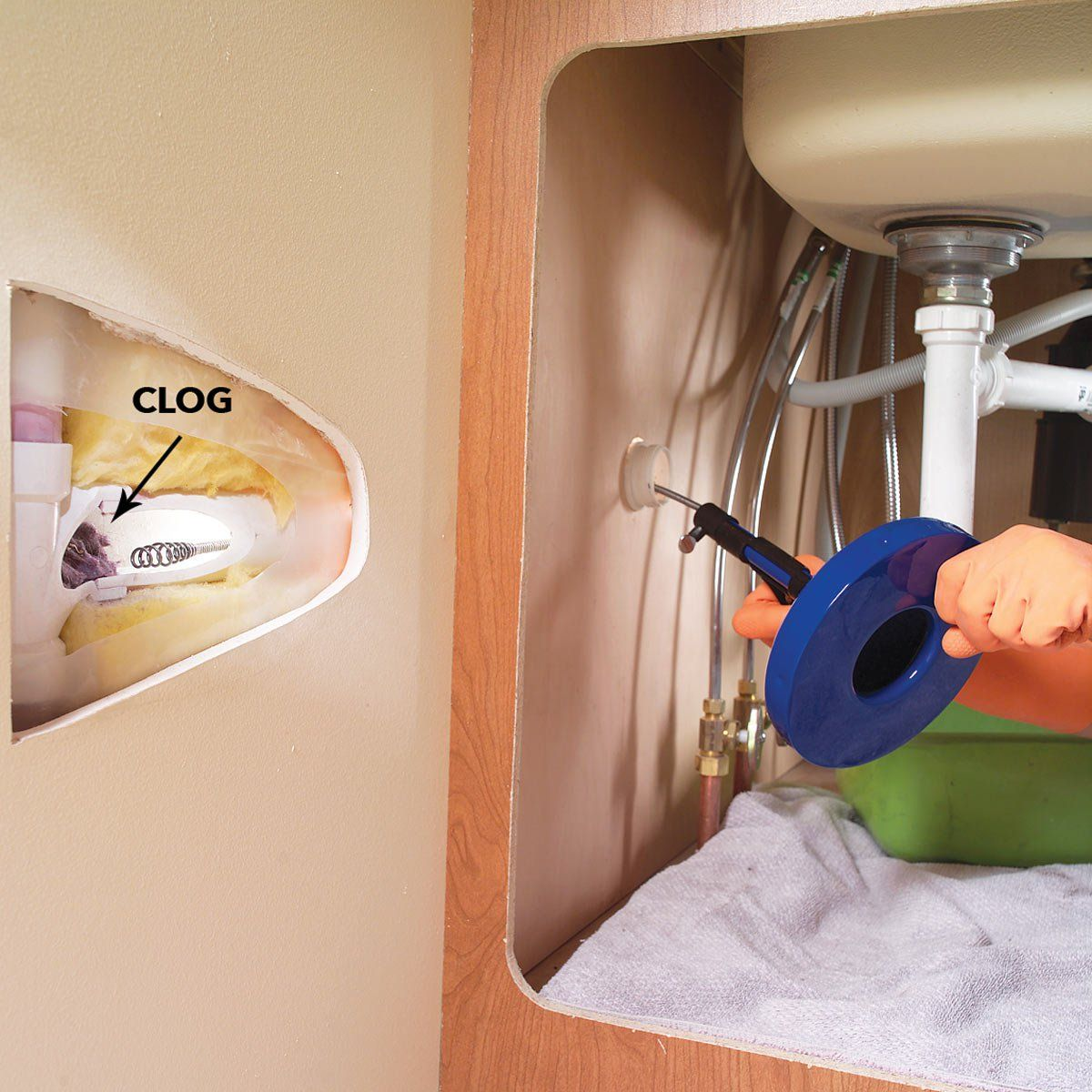 How to Unclog a Sink Unclog, Sink drain, Clogged drain