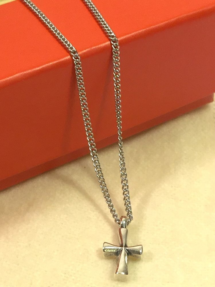 James avery st teresa cross pendant curb chain necklace 16 sterling james avery st teresa cross pendant curb chain necklace 16 sterling silver ebay aloadofball Gallery