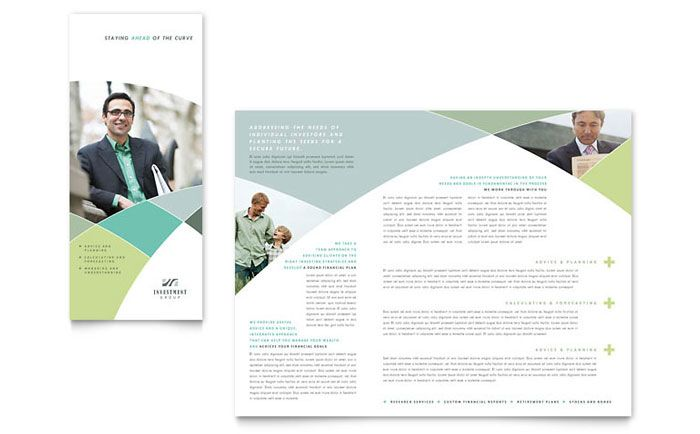 Financial Advisor Brochure Design Template by StockLayouts - software brochure