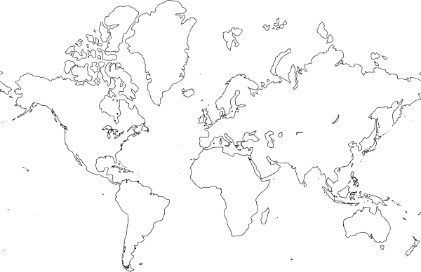 world map clip art free vector 4vector