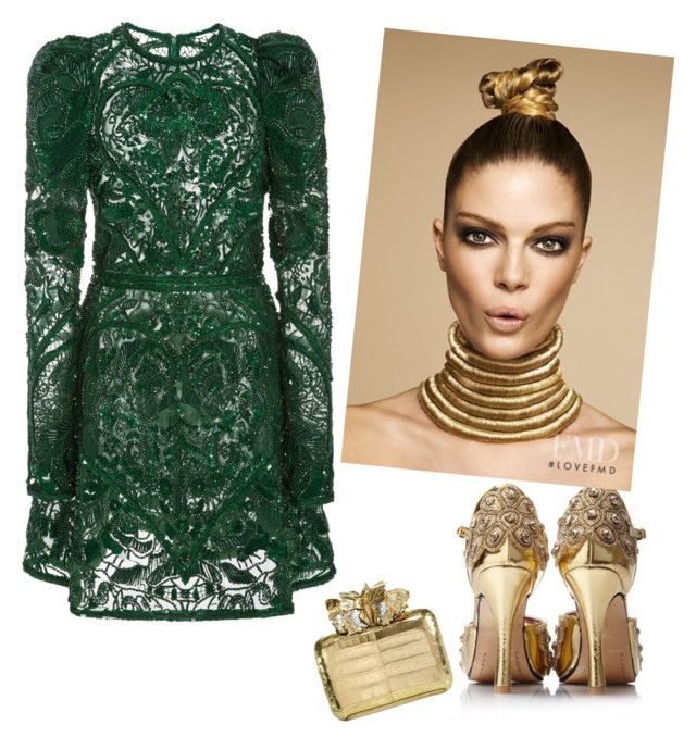 """""""night cap"""" by fashiontagboutique on Polyvore featuring Elie Saab and Nancy Gonzalez"""